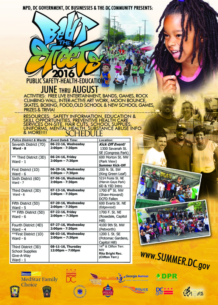 Ward 4 Beat the Streets/ Family and Community Cookout @ Washington   District of Columbia   United States