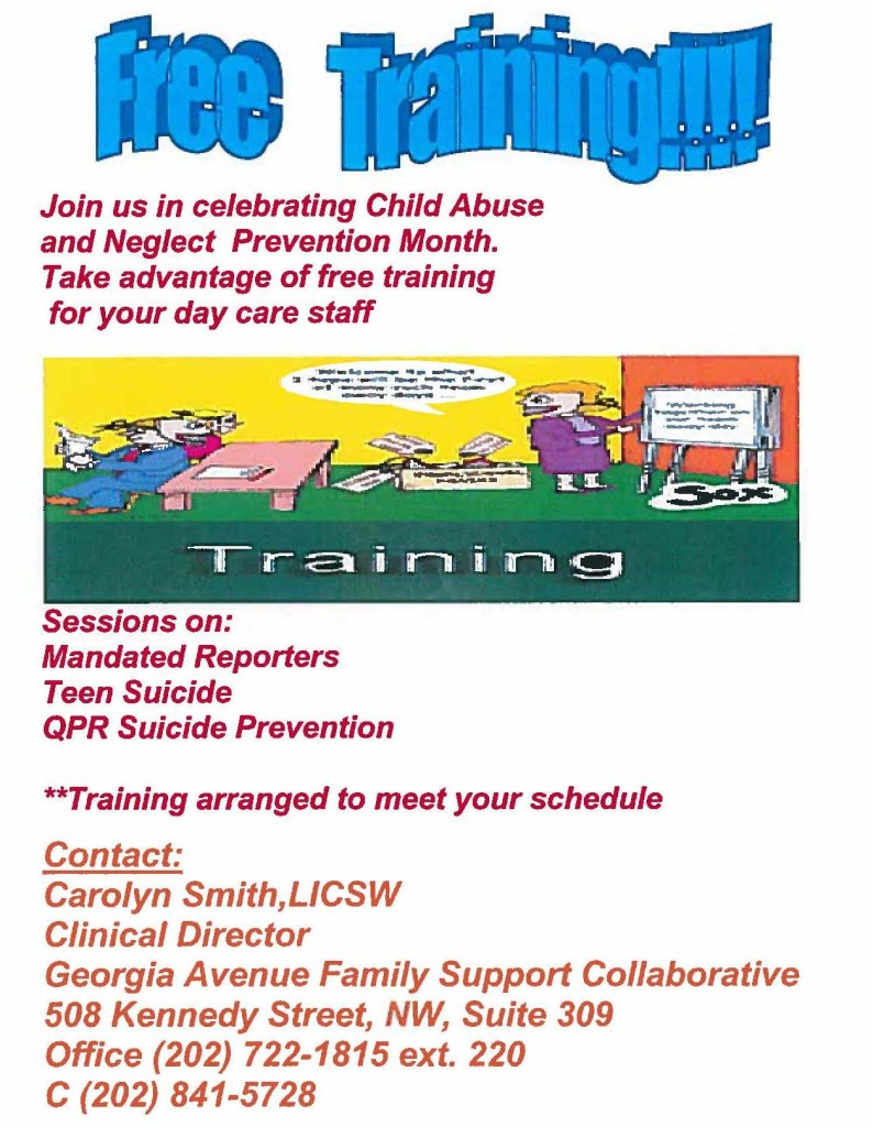 April Child Abuse Awareness Month Training