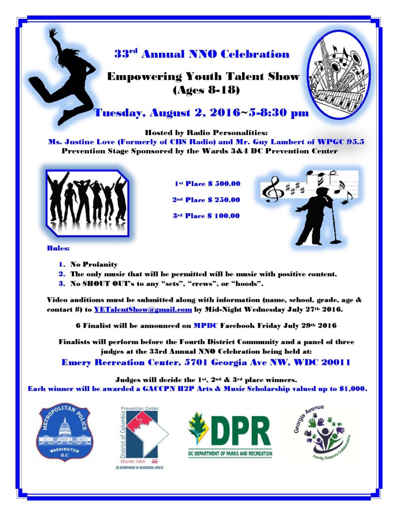 National Night Out - Empowering Youth Talent Show @ Emery Recreation Center   Washington   District of Columbia   United States