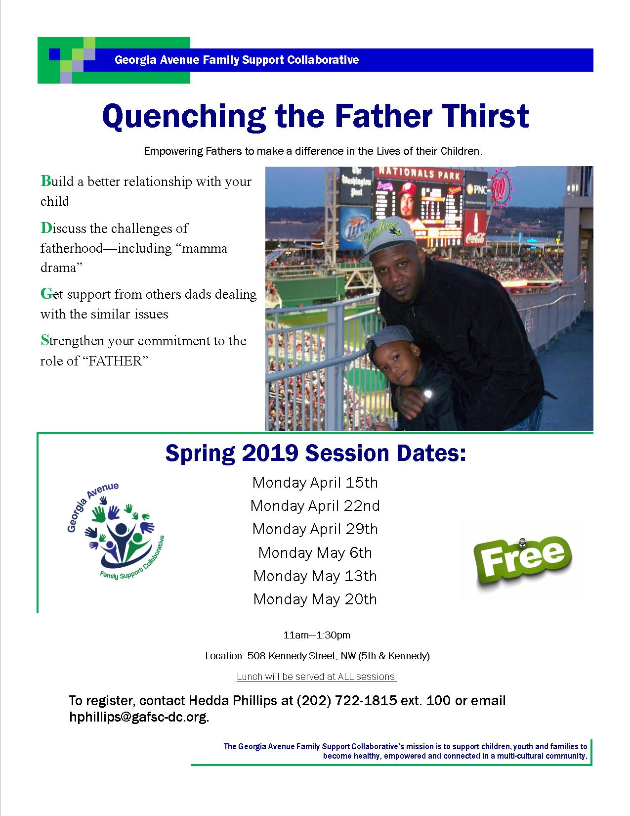 Free parenting training for fathers! April 15th - May 20th